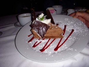 Decadent Chocolate Mousse with Raspberry Sauce