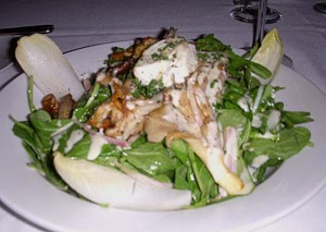 Hot Goat Cheese and Wild Mushroom Salad