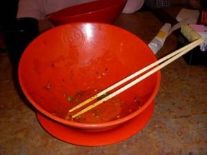 An empty bowl!