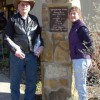 Don and Donna at the entry sign