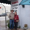 Jo and Don in front of Scampi's